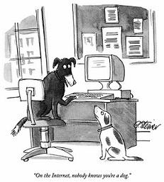 Dog on the internet