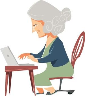 Grandma hacking skills